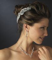 Silver Bridal Hair Side Combs