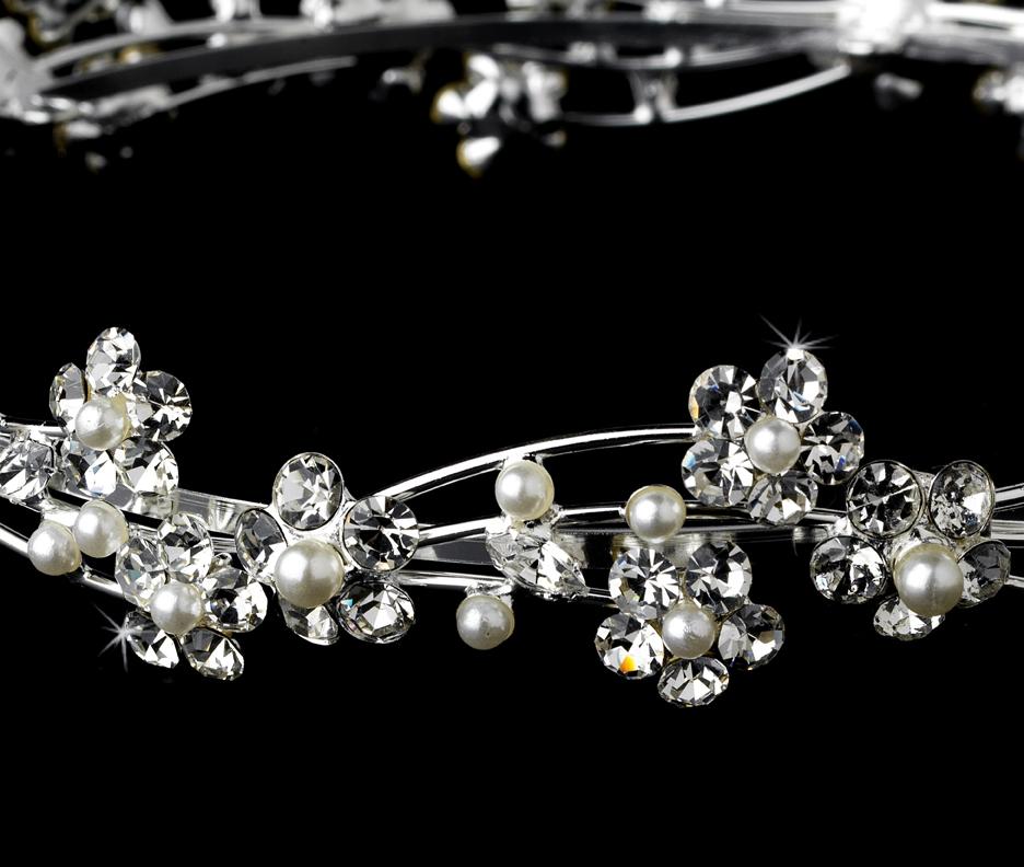 Pearl Headpieces For Brides: Crystal & Pearl Bridal Headpieces