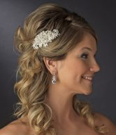 Pearl Accented Side Décor Bridal Combs