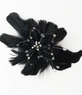 Floral Fascinator with Brooch Pin Hair Clip