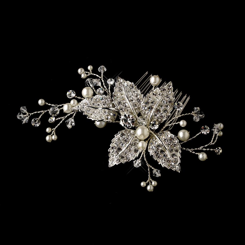Gorgeous Pearl And Rhinestone Bridal Comb Elegant Bridal