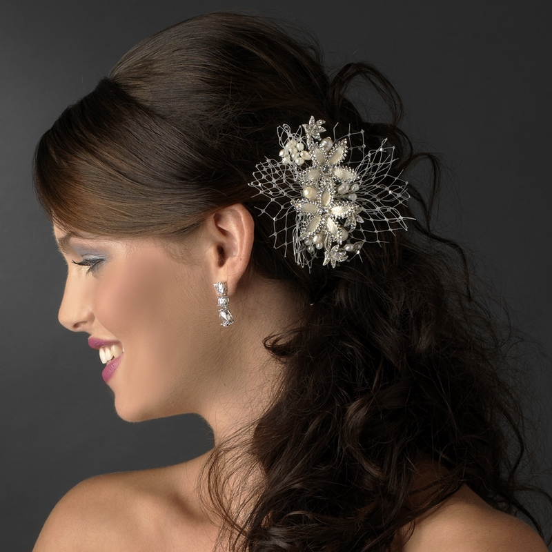 wedding girls combspins veil hair accessories comb jewelry clip