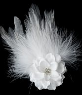 Petite Flower Feather Fascinator Clip