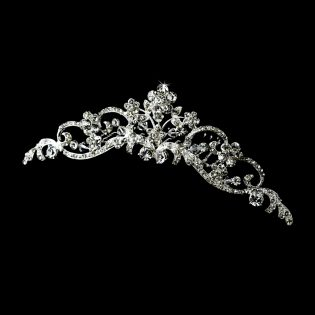 Swarovski Crystal Floral Bridal Comb