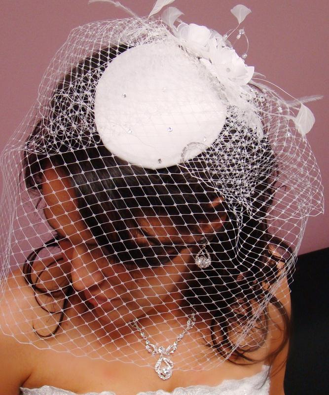 Vintage Wedding Hairstyles With Birdcage Veil: Vintage Bridal Hat BirdCage Veil Comb