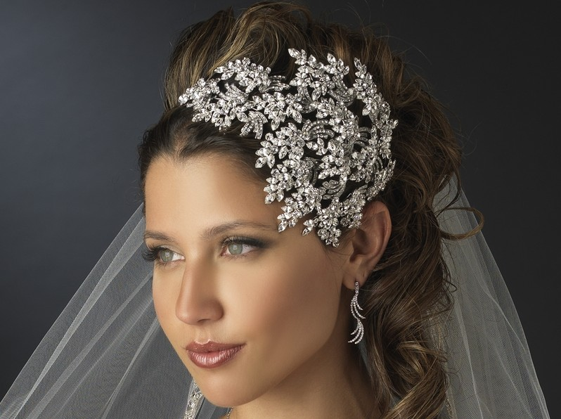Vintage Couture Side-Accented Crystal Bridal Headband