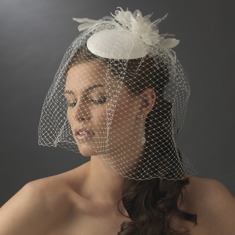 Vintage Bridal Hat With Bird Cage Face Veil Amp Flower