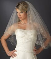 Beaded Embroidered Veil