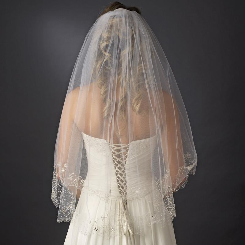 wedding veils beaded layer bridal veil by 2013 new