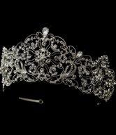 Antique Silver Rhodium Royal Bridal Tiara