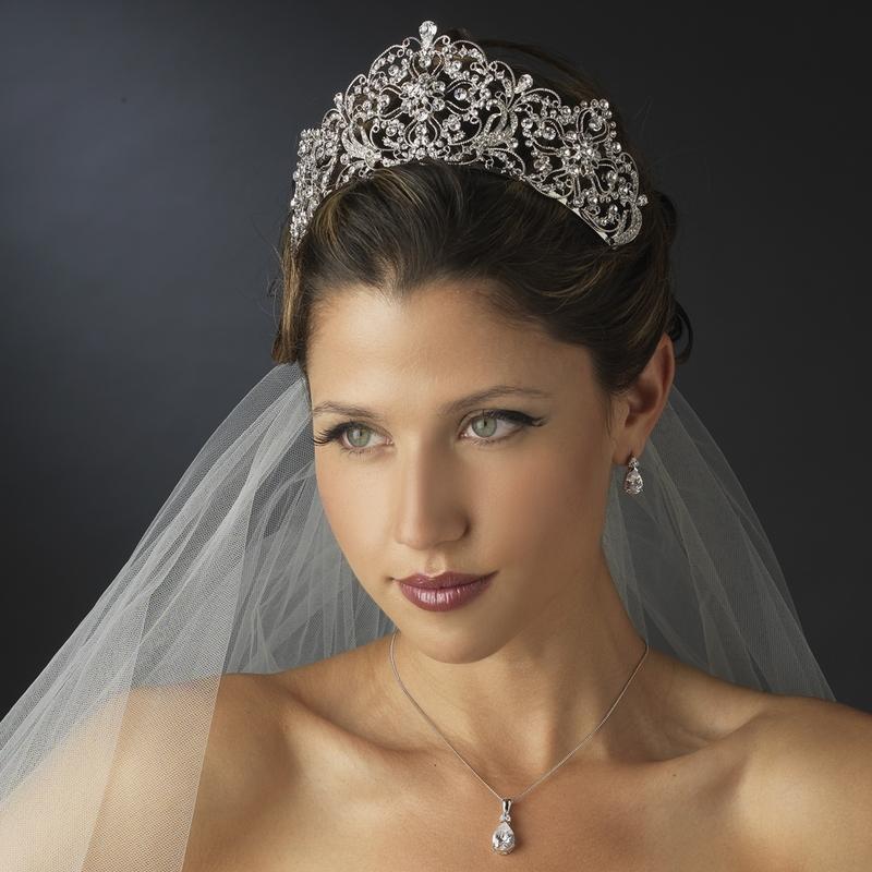 Wedding Crown Hair: Antique Silver Rhodium Royal Bridal Tiara