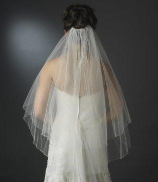 double layer wedding veil