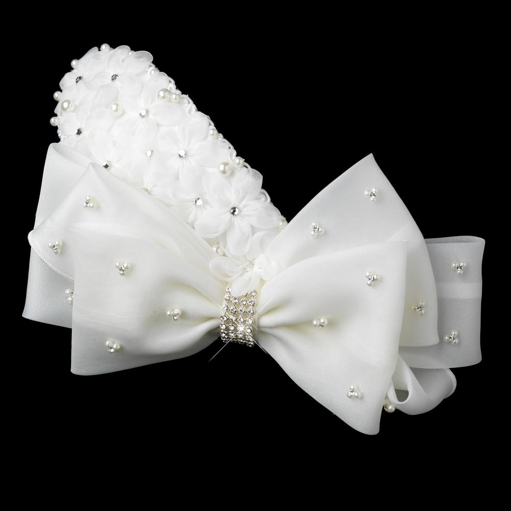 bridal hair bows