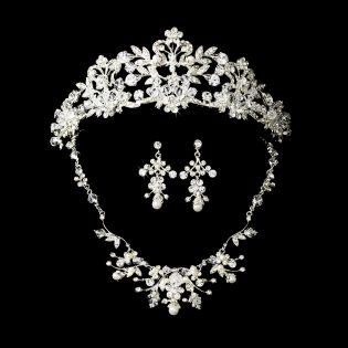 Wedding Tiara and Jewelry Set