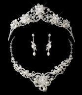 Wedding Tiara Necklace Set