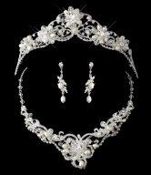 Wedding Tiara Necklace Set