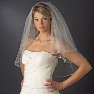 Beaded Edge Bridal Veil