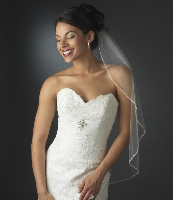 Beaded Edge Bridal Veil