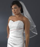 Satin Ribbon Edge Veils