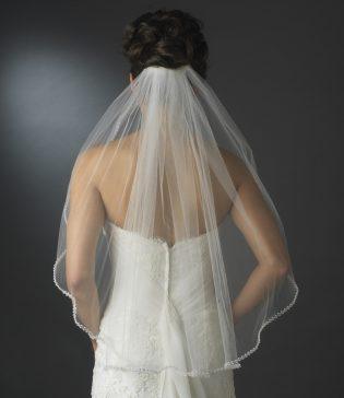 Beaded Edge Wedding Veil