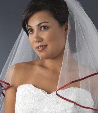 Satin Ribbon Wedding Veil