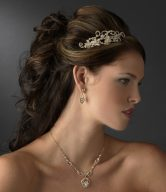 Gold Side-Accented Bridal Headpieces