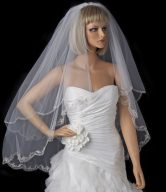 2 Tier Wedding Veil