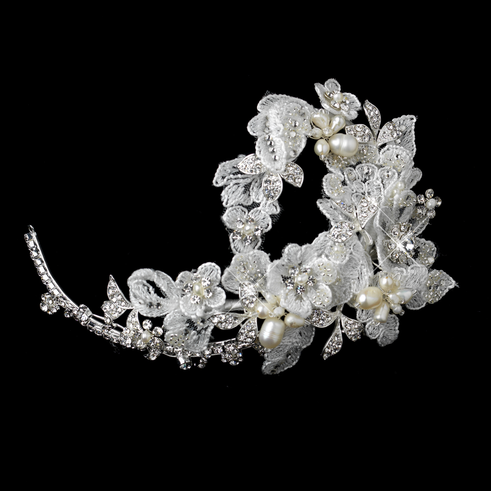 Exquisite Pearl Rhinestone Flower Hair Clip Elegant Bridal Hair