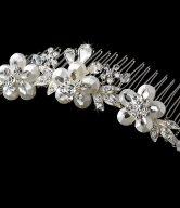 Exquisite Swarovski Floral Bridal Comb