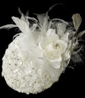 Extraordinary Flower & Feather Hat Comb