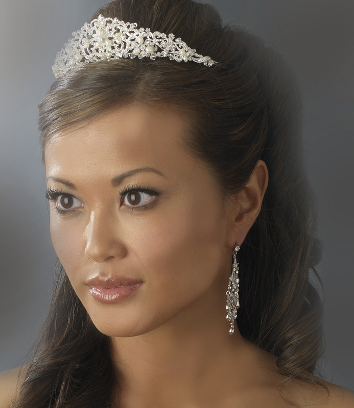 Pearl Headpieces For Brides: Freshwater Pearl And Crystal Bridal Tiara