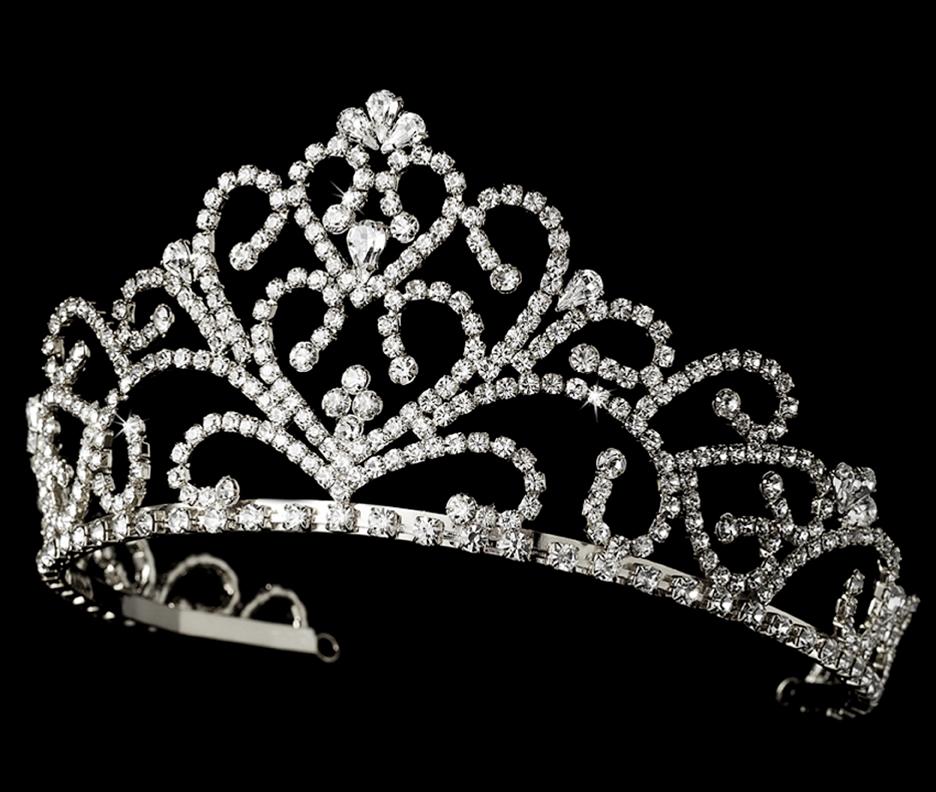 Glamorous Royal Rhinestone Bridal Tiara Elegant Bridal