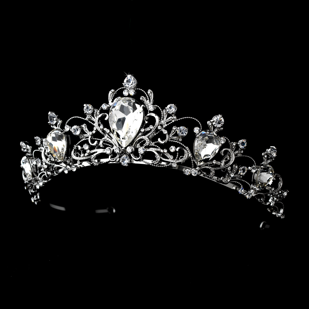 Gorgeous Bold Princess Wedding Tiara - Elegant Bridal Hair ...