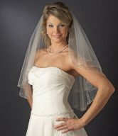 Veils with Rhinestones