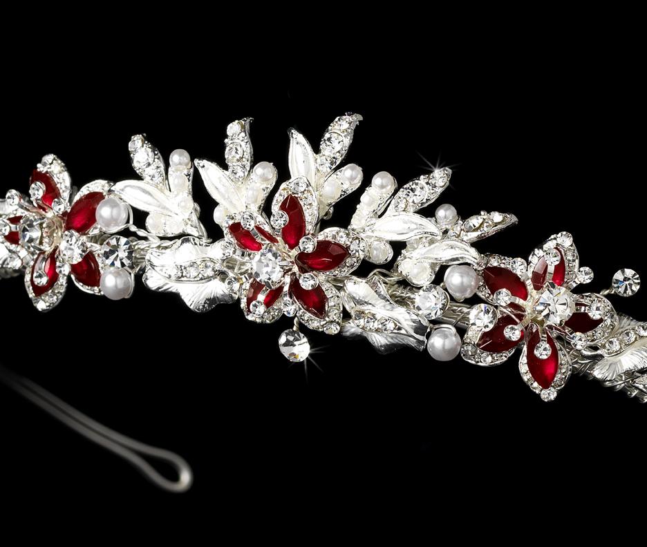Lovely Floral Bridal Tiara