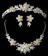 Lovely Floral Matching Tiara & Jewelry Set