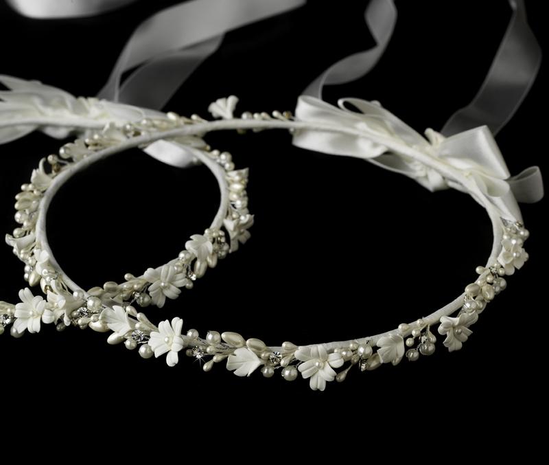 Lovely flower pearl greek stefana wedding crowns elegant bridal lovely flower pearl greek stefana wedding crowns junglespirit Choice Image