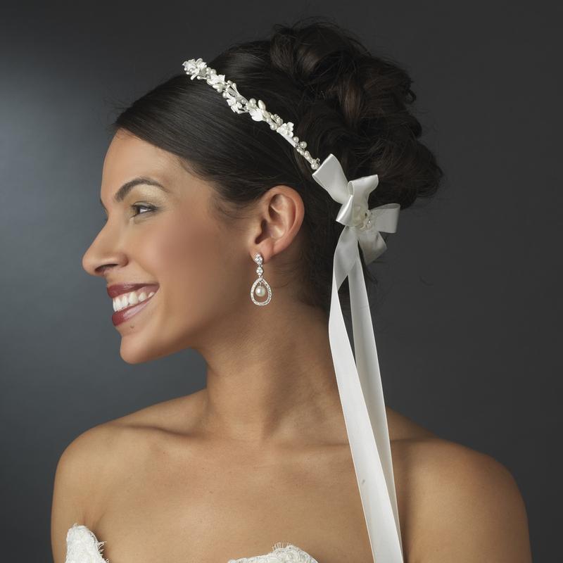 Lovely Flower Amp Pearl Greek Stefana Wedding Crowns