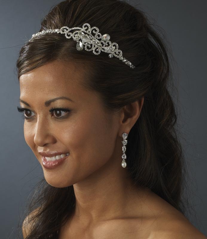 Modern Crystal Bridal Tiara Headband