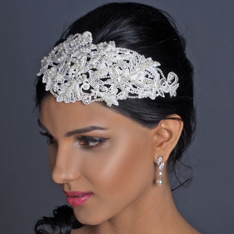 New Shiny Crystal Rhinestone Pearl Headband Wedding Bridal Silver Hair wear Party Girls Tiara Flower Hair bands Hair Accessories. It is the perfect accessory for causal wear or other special occasions or gift, party. Imagine how sparkling and eye-catching you will .