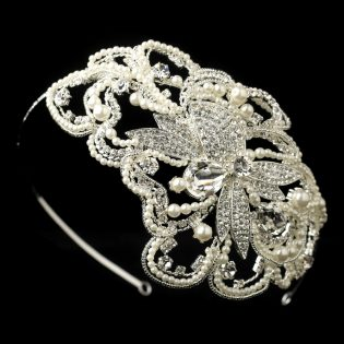 Side Accent Bridal Headband