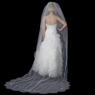 Beaded Cathedral Length Veil
