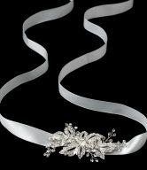 Rhinestone Pave Flower Bridal Headband