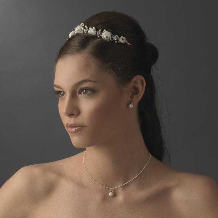 Rose amp crystal bridal headband elegant bridal hair accessories