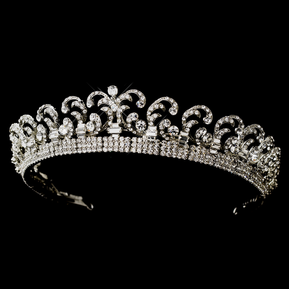Royal Princess Kate Inspired Halo Tiara Elegant Bridal
