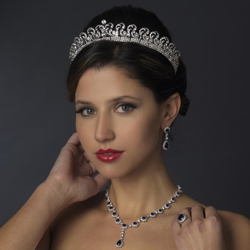 Royal Princess Kate Inspired Halo Tiara Elegant Bridal