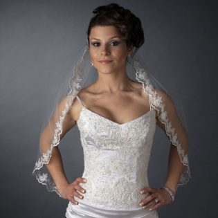 Embroidered Lace Wedding Veil