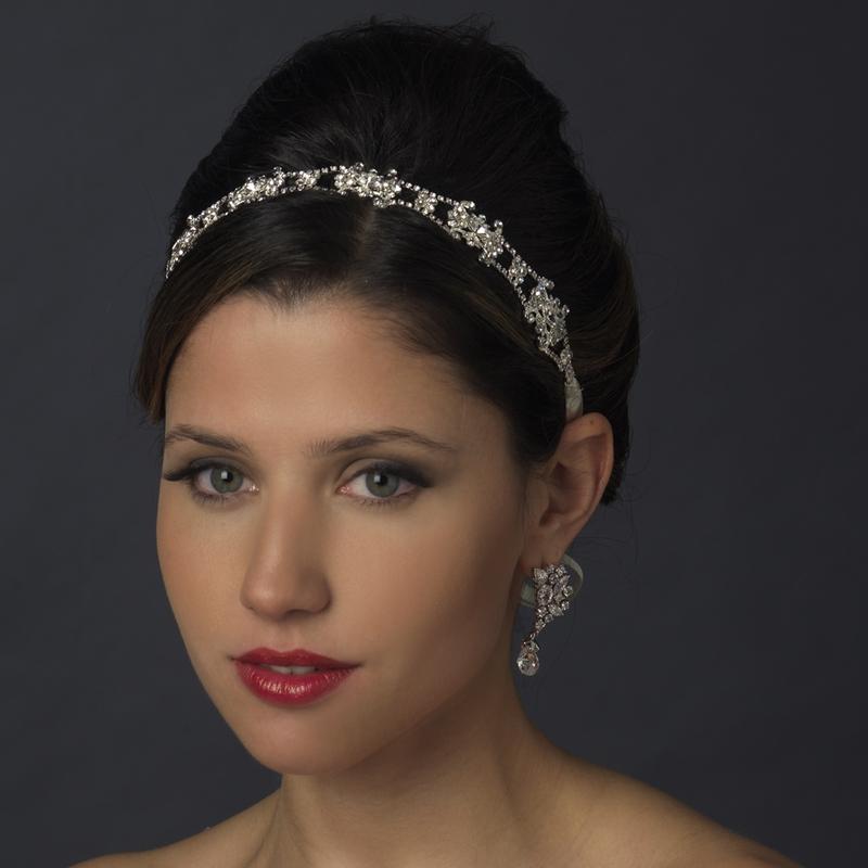 Stunning Crystal Ribbon Bridal Headbands