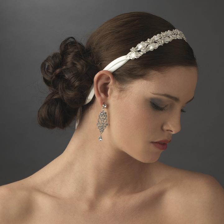 bridal headpieces bridal and wedding headbands bridal ribbon headband