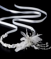 Bridal Feather Headband